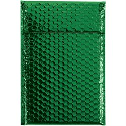 "7 1/2 x 11"" Green Glamour Bubble Mailers"