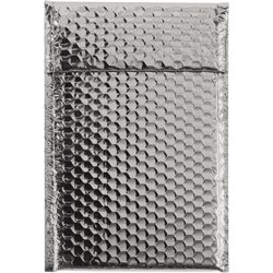 """7 1/2 x 11"""" Silver Glamour Bubble Mailers"""