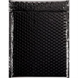 """9 x 11 1/2"""" Black Glamour Bubble Mailers"""