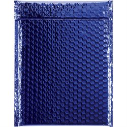 """9 x 11 1/2"""" Blue Glamour Bubble Mailers"""