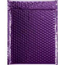 "9 x 11 1/2"" Purple Glamour Bubble Mailers"