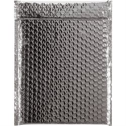 """9 x 11 1/2"""" Silver Glamour Bubble Mailers"""