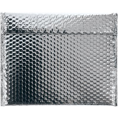 """13 3/4 x 11"""" Silver Glamour Bubble Mailers"""