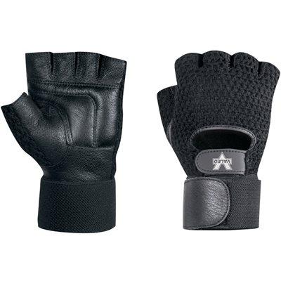 Mesh Material Handling Fingerless Gloves w/ Wrist Strap - Small