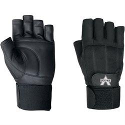 Pro Material Handling Fingerless Gloves w/ Wrist Strap - Medium