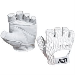 Mesh Backed Lifting Gloves - White - Medium