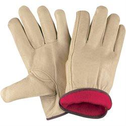 Pigskin Leather Drivers Gloves Lined - XLarge