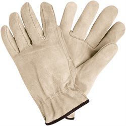Deluxe Cowhide Leather Drivers Gloves - Medium