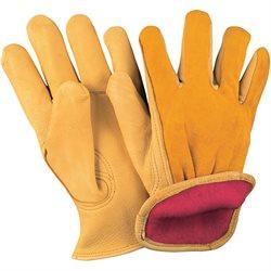 Deerskin Leather Drivers Gloves Lined - Medium