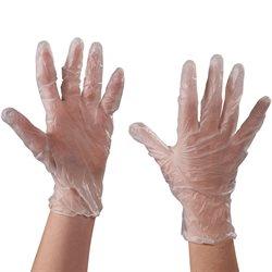 Vinyl Gloves- Clear - 3 Mil - Powder Free - Medium
