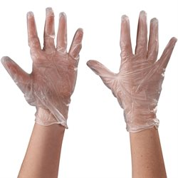 Vinyl Gloves Clear - 5 Mil - Powdered - Large