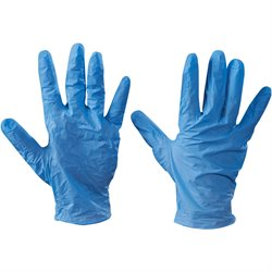 Vinyl Gloves- Blue - 5 Mil - Powdered - Large