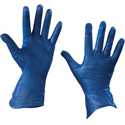 Vinyl Gloves- Blue - 5 Mil - Powder Free - Small