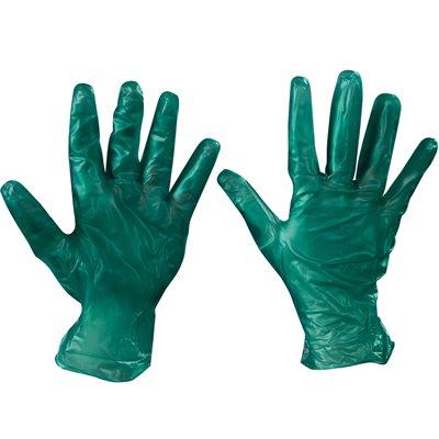 Vinyl Gloves- Green - 6.5 Mil. - Powdered - Xlarge