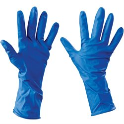Latex Industrial Gloves Powder-Free w/Extended Cuff - Medium