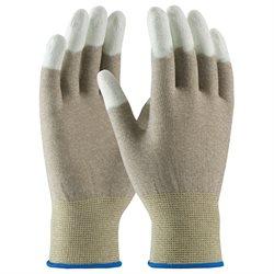 ESD Fingertip Coated Nylon Gloves - Large