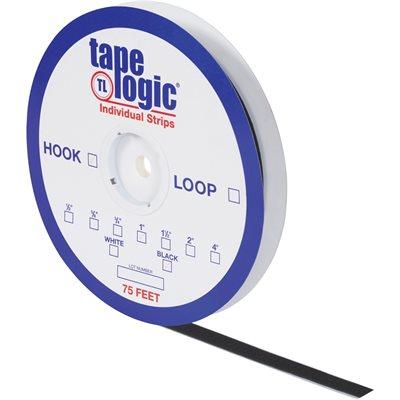 """5/8"""" x 75' Black Hook Tape Logic® Individual Tape Strips"""