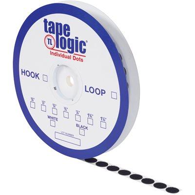 "3/8"" Black Hook Tape Logic® Individual Tape Dots"