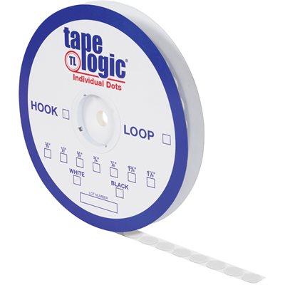 """3/8"""" White Loop Tape Logic® Individual Tape Dots"""
