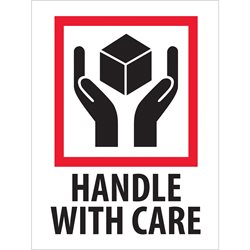 "3 x 4"" - ""Handle With Care"" Labels"