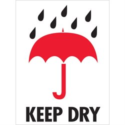 "3 x 4"" - ""Keep Dry"" Labels"