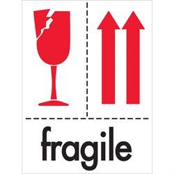 "3 x 4"" - ""Fragile"" Labels"