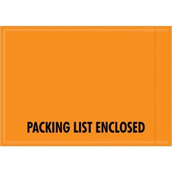 "4 1/2 x 6"" - Mil-Spec ""Packing List Enclosed"" Envelopes"