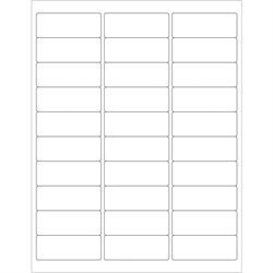 """2 5/8 x 1"""" White Rectangle Laser Labels"""