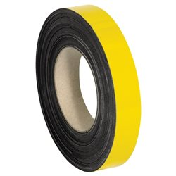 """1"""" x 50' - Yellow Warehouse Labels - Magnetic Rolls"""
