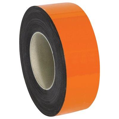 "2"" x 50' - Orange Warehouse Labels - Magnetic Rolls"