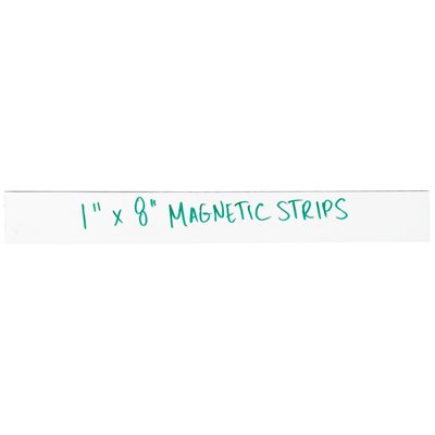 """1 x 8"""" White Warehouse Labels - Magnetic Strips"""