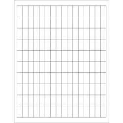 """1/2 x 1"""" White Rectangle Laser Labels"""