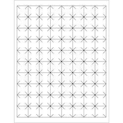 "1 x 1"" White Rectangle Security Slit Laser Labels"