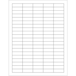"""1 1/2 x 1/2"""" White Rectangle Laser Labels"""