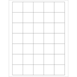"""1 1/2 x 1 1/2"""" White Rectangle Laser Labels"""