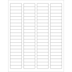 """1 3/4 x 1/2"""" White Rectangle Laser Labels"""