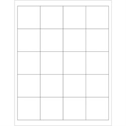 """2 x 2"""" White Rectangle Laser Labels"""