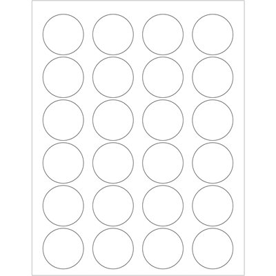 """1 5/8"""" Glossy White Circle Laser Labels"""