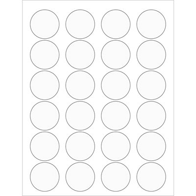 """1 5/8"""" Clear Circle Laser Labels"""