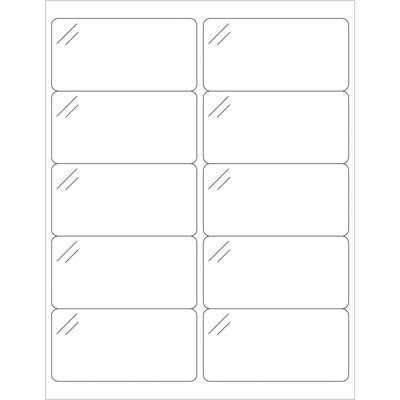 """4 x 2"""" Crystal Clear Rectangle Laser Labels"""