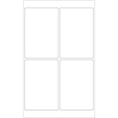 """4 x 6"""" White Removable Rectangle Laser Labels"""