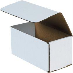 "10 x 4 x 4"" White Corrugated Mailers"