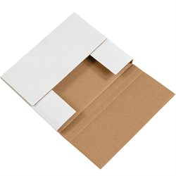 """10 1/4 x 8 1/4 x 1 1/4"""" White Easy-Fold Mailers"""