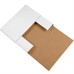 """12 1/2 x 12 1/2 x 2"""" White Easy-Fold Mailers"""