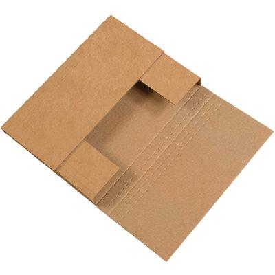 """12 x 9 x 3"""" Kraft Easy-Fold Mailers"""