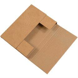 """12 1/8 x 9 1/8 x 3"""" Kraft Easy-Fold Mailers"""