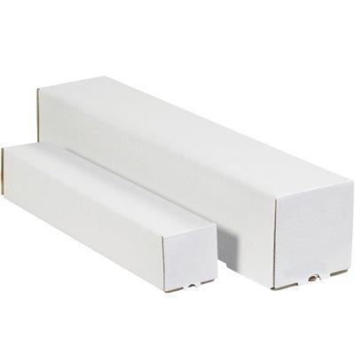 "3 x 3 x 43"" White Square Mailing Tubes"