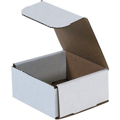 "4 x 4 x 2"" White Corrugated Mailers"