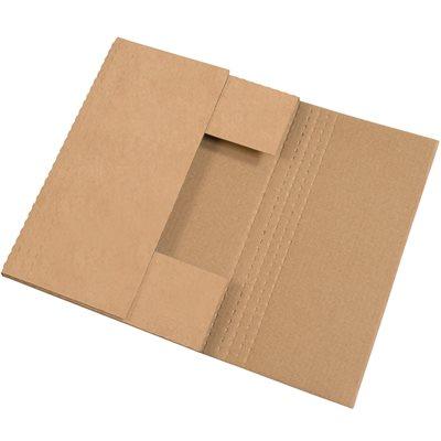 17 1/8 x 14 1/8 x 2 Kraft Easy-Fold Mailers