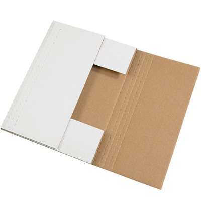 """17 1/8 x 14 1/8 x 2"""" White Easy-Fold Mailers"""